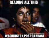 Reading Washington Post news garbage