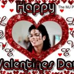 MJ Valentine Day card with heart and love
