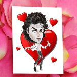 Cartoon MJ Valentine Day card