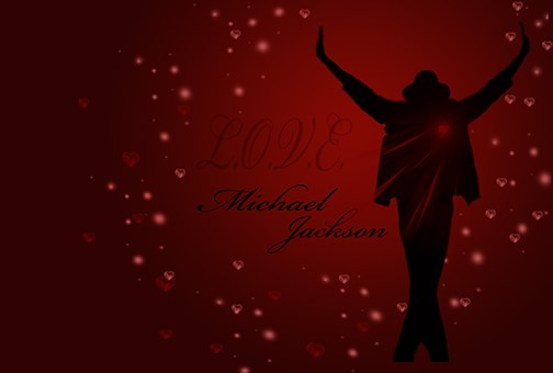Love Michael Jackson Valentine Day card